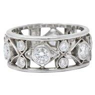 Nathan Levy 1.14 CTW Diamond Platinum Eternity Band Ring