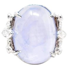 1930's Art Deco Star Sapphire Diamond Ring
