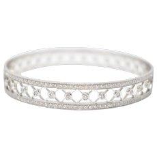 Tiffany & Co. Platinum Voile Vintage Diamond Slip On bangle Bracelet