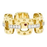 Roberto Coin Pois Moi 0.40 CTW Diamond & 18K Yellow Gold Chain Band Ring
