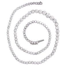 13.62 Carat Exquisite Platinum Diamond Riviera Necklace