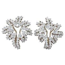 Tiffany & Co. 4.62 CTW Diamond Platinum 18 Karat White Gold Firework Earrings