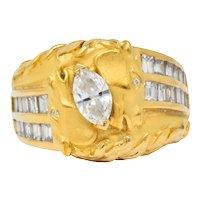 Carrera y Carrera 1.70 CTW Marquise Diamond 18 Karat Gold Ecuestre Horse Ring
