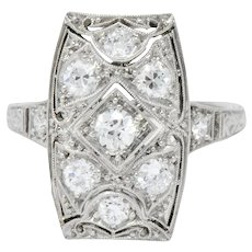 Tiffany & Co. Art Deco 0.40 CTW Diamond Platinum Dinner Ring