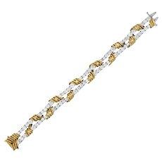 Tiffany & Co. Vintage 14.00 CTW Diamond 18 Karat Gold Platinum Bracelet