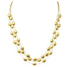 Marco Bicego 18 Karat Gold Multi-Strand Confetti Oro Necklace