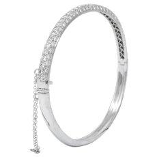 Tiffany & Co. 5.00 CTW Round Brilliant Diamond Platinum Bangle Bracelet