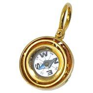 Accar Vintage 14 Karat Gold Gyroscope Compass Pendant