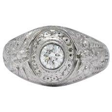 Tiffany & Co. 1925 Diamond Platinum West Point Class Unisex Ring