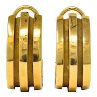 Tiffany & Co. Vintage 1995 18 Karat Gold Atlas Ear-Clip Earrings