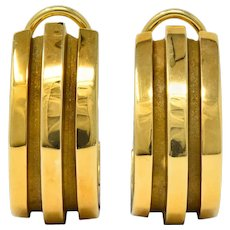 Tiffany & Co. Vintage 1995 18 Karat Gold Atlas Ear-Clip Earrings