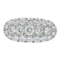 1950's 2.80 CTW Diamond 14 Karat Two-Tone Gold Cluster Ring