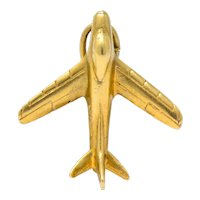 Retro 1950's 14 Karat Gold U.S. Air Force Fighter Plane Airplane Charm