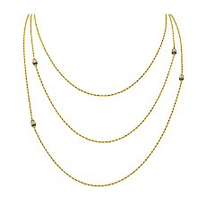 Victorian Jade Seed Pearl 14 Karat Gold 48 Inch Station Necklace
