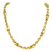 Tiffany & Co. 14 Karat Gold Bold Long Link Necklace Circa 1980