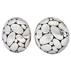 John Hardy Vintage Sterling Silver Dot Earrings