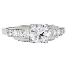Birks Retro 0.82 CTW Diamond Platinum Engagement Ring