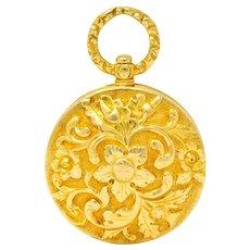 Georgian Regency 18 Karat Gold Vinaigrette Pendant