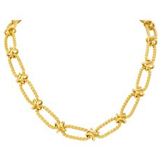 Substantial Contemporary 14 Karat Gold Necklace With Extender