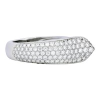 Cartier 1.50 CTW Diamond 18 Karat White Gold Cocktail Ring