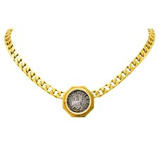Bulgari Ancient Coin 18 Karat Yellow Gold Monete Edward the Confessor Necklace