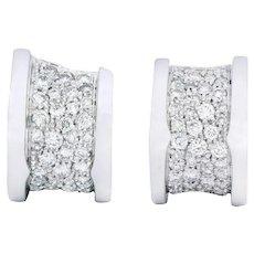 Bulgari BZero1 Modernist 1.50 CTW Diamond 18 Karat Gold Earrings