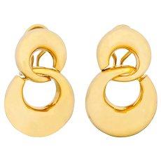 Tiffany & Co. 18 Karat Yellow Gold Drop Earrings