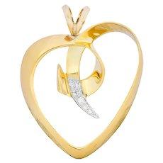 Paloma Picasso Tiffany & Co. 1983 Diamond 18 Karat Gold Loving Heart Pendant