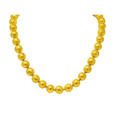 French Victorian Revival 18 Karat Yellow Gold Ball Necklace