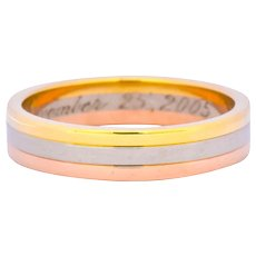 Cartier 18 Karat Tri-Gold Trinity Unisex Band Ring