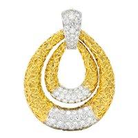 Van Cleef & Arpels 6.50 CTW Diamond 18 Karat Gold Door Knocker Pendant