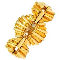 Aldo Cipullo Cartier Vintage 18 Karat Gold Link Bracelet Circa 1970's