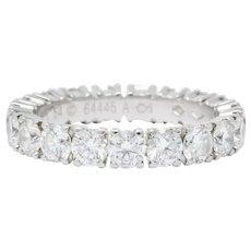 Cartier 3.05 CTW Diamond Platinum Eternity Band Stack Ring