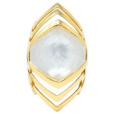 Stephen Webster Rock Crystal Mother-Of-Pearl 18 Karat Gold Lady Stardust Ring