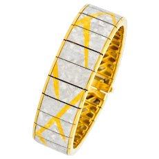 Michael Bondanza 1990's Platinum 18 Karat Gold Signature Bracelet