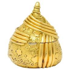 Schlumberger Tiffany & Co. 18 Karat Gold Chestnut Acorn Pill Box Circa 1960