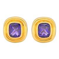 Paloma Picasso Tiffany & Co. Amethyst 18 Karat Gold Earrings Circa 1980