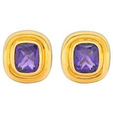 Paloma Picasso Tiffany & Co. Amethyst 18 Karat Gold Earrings Circa 1980