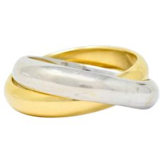 Paloma Picasso Tiffany & Co. 18 Karat Two-Tone Gold Melody Rolling Band Ring