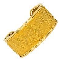 Carrera Y Carrera 18 Karat Gold Romeo & Juliet Cuff Bracelet