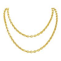 Tiffany & Co. 18 Karat Yellow Gold Geometric Link Necklace