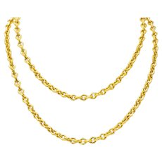 Tiffany & Co. 18 Karat Yellow Gold Geometric Link Necklace