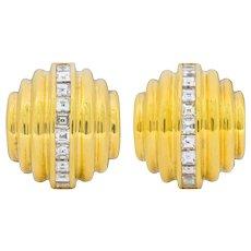 Bulgari 2.50 CTW Diamond 18 Karat Gold Multi-Dimensional Earrings