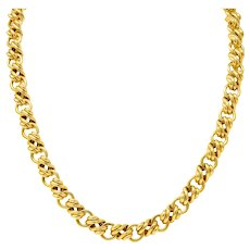 Tiffany & Co. Vintage 18 Karat Gold Yellow Substantially Linked Chain Necklace