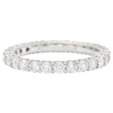 Tiffany & Co. Diamond Platinum Wedding Stacking Eternity Band Ring