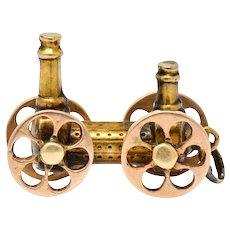 Victorian Articulated 18 Karat Gold Royal George Steam Engine Charm