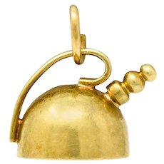 Cartier Retro 14 Karat Gold Tea Kettle Pot Charm