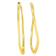 Elsa Peretti Tiffany & Co. 18 Karat Gold Open Heart Hoop Earrings