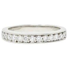 Adiamor Contemporary 0.40 CTW Diamond Platinum Anniversary Band Ring