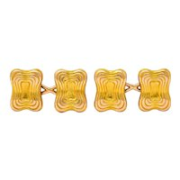 Tiffany & Co. Victorian 18 Karat Gold Men's Cufflinks Circa 1950